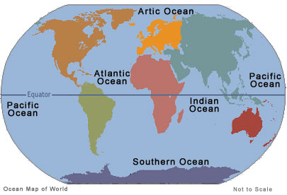 5 Oceans of the World, List, News, What You Should Know OCEANS MAP